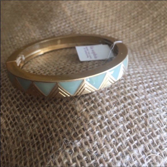 Lia Sophia Jewelry - Mint Green and Gold Tone Bangle